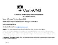 CastleCMS-VPAT-2018