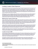 Limiting Location Data Exposure CSI