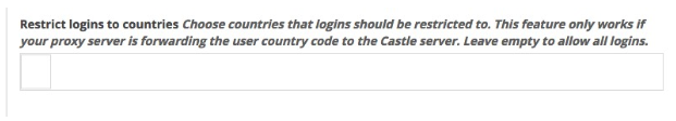 Restrict Country Logins