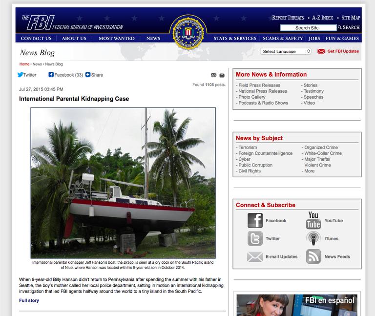 FBI News page