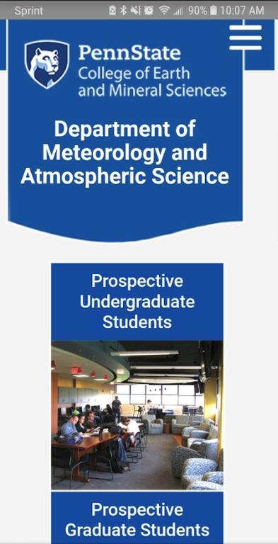 Penn State Meteorology Screenshot Mobile