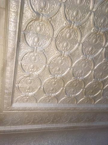 Restored Tin Ceiling