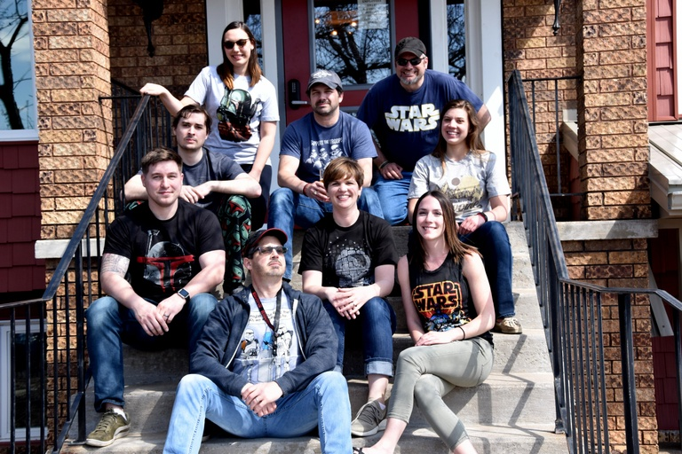 Wildcard staff celebrate May 4th 2019 by wearing Star Wars themed apparel to work.