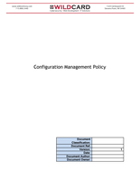 Configuration Management Policy Template