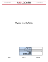 Physical Security Policy Template